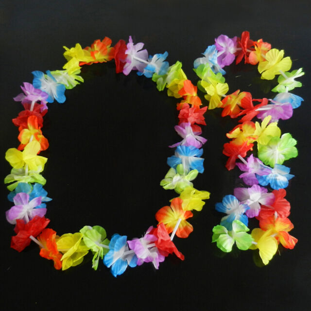 necklace flower flashing hawaiian garland zy lei