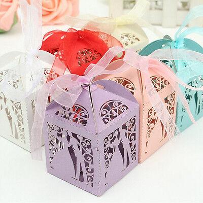 Süße Verheiratet Hochzeit Gunsten Box Geschenkboxen Süßigkeit Papier Xq BCDE