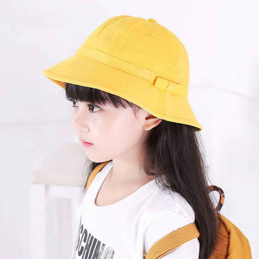 Baby Toddler Kid Girl Outdoor Sun Hat Brim Summer Bucket Hats Beach Headwear 8C