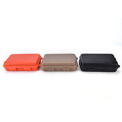 Small size!Outdoor Shockproof Waterproof Airtight Survival Storage Case Boxes JH