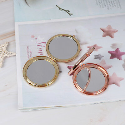 Vintage Alloy Compact Pocket Mirror Folded Makeup Cosmetic Mirror Magnifying .. - $7.69