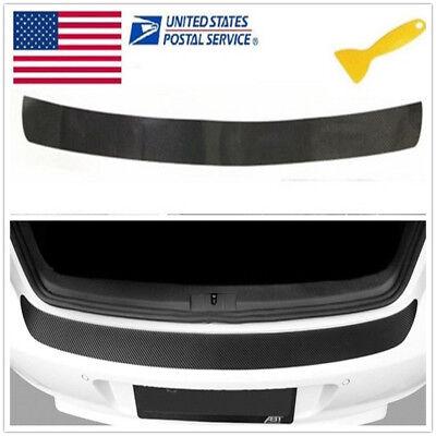 🔥1PC Accessories Carbon Fiber Car Rear Guard Bumper 4D Sticker Panel Protector