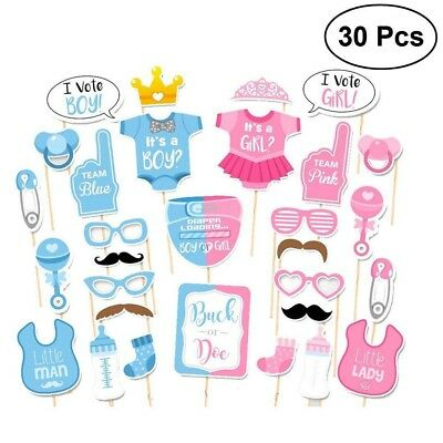 [LARGE SIZE] Baby Shower Gender Reveal Party Supplies/Favors Photobooth Props (Gender Reveal Decorations)