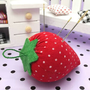 Cute Strawberry Style Pin Cushion Pillow Needles Holder Sewing-Craft KitPerfectN