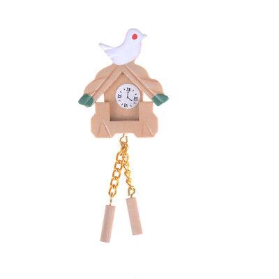 haus Möbel Mini Vogel Holz Uhr Puppenhaus Zubehö CBL (Mini-vogel)