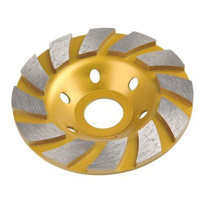 "5"" Diamond Double Fan Turbo Grinding Cup Wheel Concrete 7/8-5/8 Arbor"