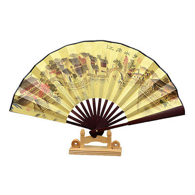 1 x Chinese Japanese Seide Folding Hand Held Tasche Fan Party Dance Tn Handheld-tasche