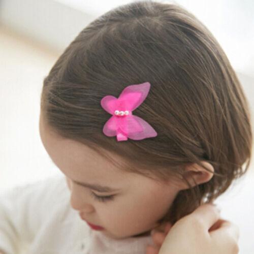 5 Pcs Bow Butterfly Hair Clips Girls Hair Grips Kids Hairpin HeadwearAccessoryvb