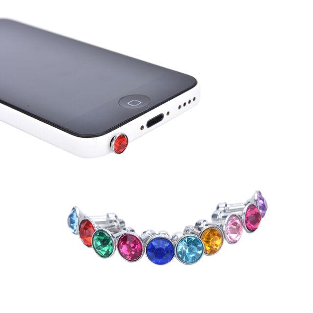10X Anti Dust Crystal Cap Earphone Jack Plug Stopper For Cell Phone 10*3.5MM BDA