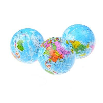 World Map Foam Rubber Ball For Baby Stress Bouncy Ball Geography Toy IU
