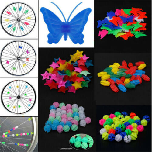 Colored Bicycle Bike Wheel Plastic Spoke Bead Children Kids Clip Decoration STDE