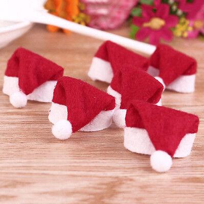 6X Mini Weihnachtsmann -Hut-Weihnachtsfeiertags Lollipop Top-Deckel-Dekor