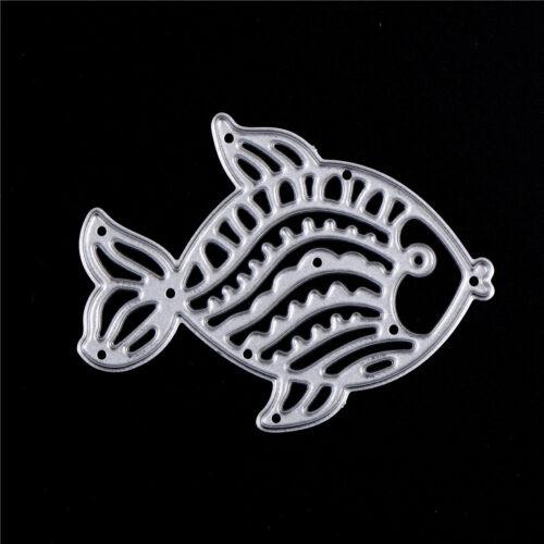 Cute Fish Metal Cutting Dies Stencils For Scrapbooking DIY Album Cards Decor XR - $8.55