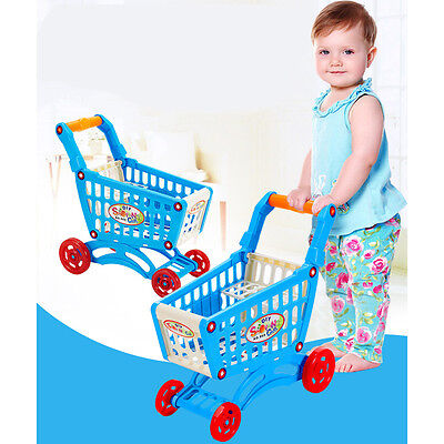 Kids Children Mini Shopping Cart Pretend Play Grocery Store Supermarket Trolley