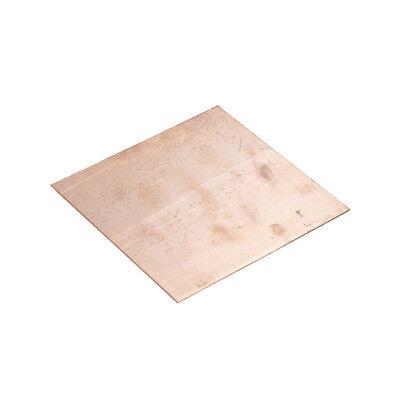 99.9 Pure Copper Cu Metal Sheet Plate 0.8mm100mm100mm Fast