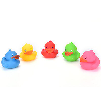 Colorful Mini Bathtime Rubber Duck Bath Squeaky Water Play Fun SU
