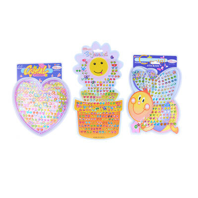 Kid Crystal Stick Earring Sticker Toy Body Bag Party Jewellery Christmas Gift LL - Sticker Earrings