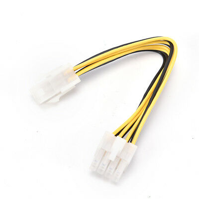 CPU Power Converter 4 Pin Male to 8 Pin Female Extension Power...