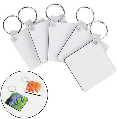 1/5/10Pcs DIY sublimation wooden hard board printing keys rings blank key chains (Key Chain Rings)