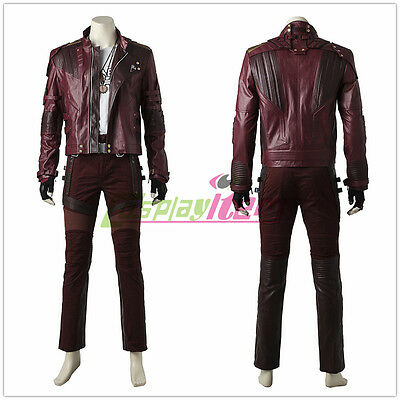 2017 Guardians of the Galaxy 2 Star-Lord Peter Quill Cosplay Costume Full - 2017 Halloween Costumes Mens
