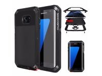 Galaxy S7 Edge Case Dual Layer Bumper Case Cover for Samsung Galaxy S7 Edge, Black