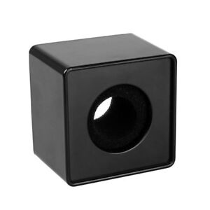 Square Cube Shaped Interview Mic Microphone Logo Flag Station Logo