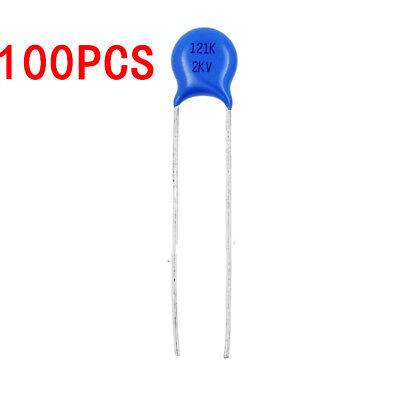 100pcs 120pf 2000v Ceramic Disc Capacitor High Voltage 2kv 121 10