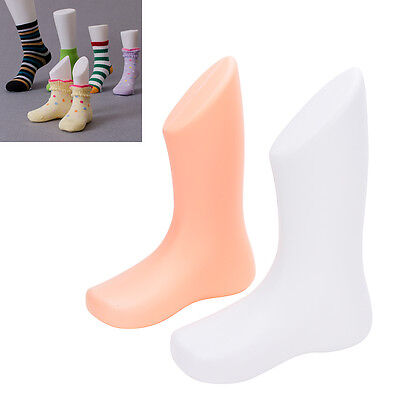 1x Hard Plastic Child Feet Mannequin Foot Model Tools For Shoes Sock Displayteus