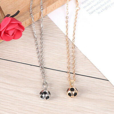 Sport necklace football Pendant With Chain Soccer Necklace Gold Silver CR_chFF