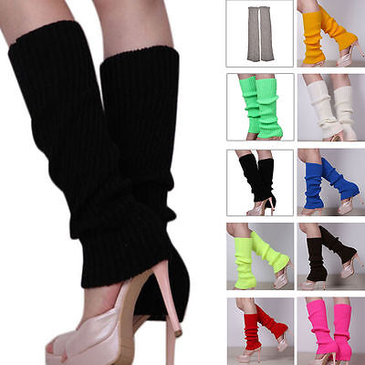 US Hot Women Fashion Leg Warmers Knitted Neon Dance 80s Costume 1980s Leg Warmer - Leg Warmers 80s