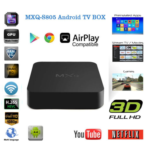 Amlogic S805 Smart TV Box Android4.4 Quad Core IPTV Media Player 1G+8G WIFI