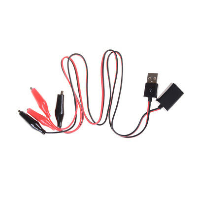 1pair Alligator Wire Usb Clip Male Female Tester Voltage Dc Ammeter Monitor Xr