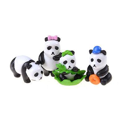 4pcs Miniature Dollhouse Fairy Garden Landscape Pandas Decor for sale  Shipping to Canada
