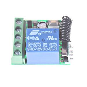433MHz 1Channel Wireless Relay RF Remote Control Switch Receiver DC12V ATUJ