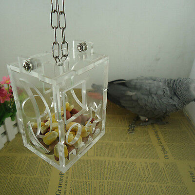Parrot Bird Cage Feeder Hang Foraging Toy For Pet Treat Hunt Macaw Cockatoo EP