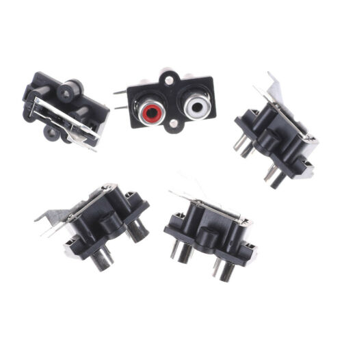 5pcs 2 Position Stereo Audio Video Jack PCB Mount RCA Female Connector jiSJUS
