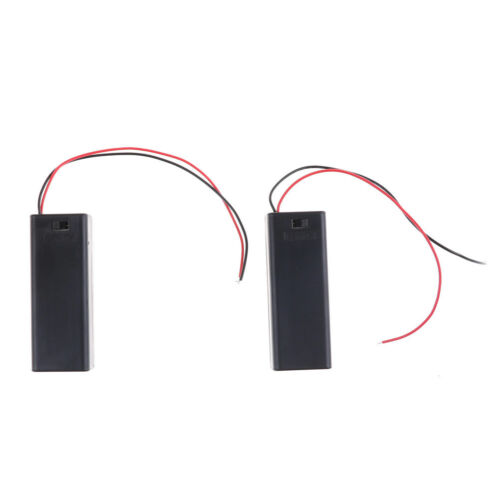 2PCS 1.5V AA Battery Holder Case with ON/OFF Toggle Switch Box Pack Cover New US