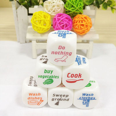 1x Dice Game Toy For Adult Love Couple Housework Duties Sex Fun Novelty Gift G$C