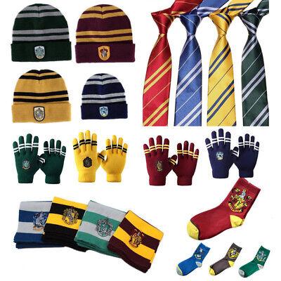 Harry Potter Gryffindor Scarf   Hat   Gloves Badges Tie Socks Brooch Costume Cos