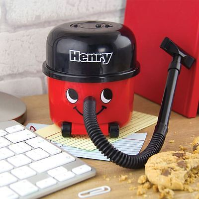 Official Henry Novelty Desktop Hoover Vaccum Crumbs  - Boxed Office Gift