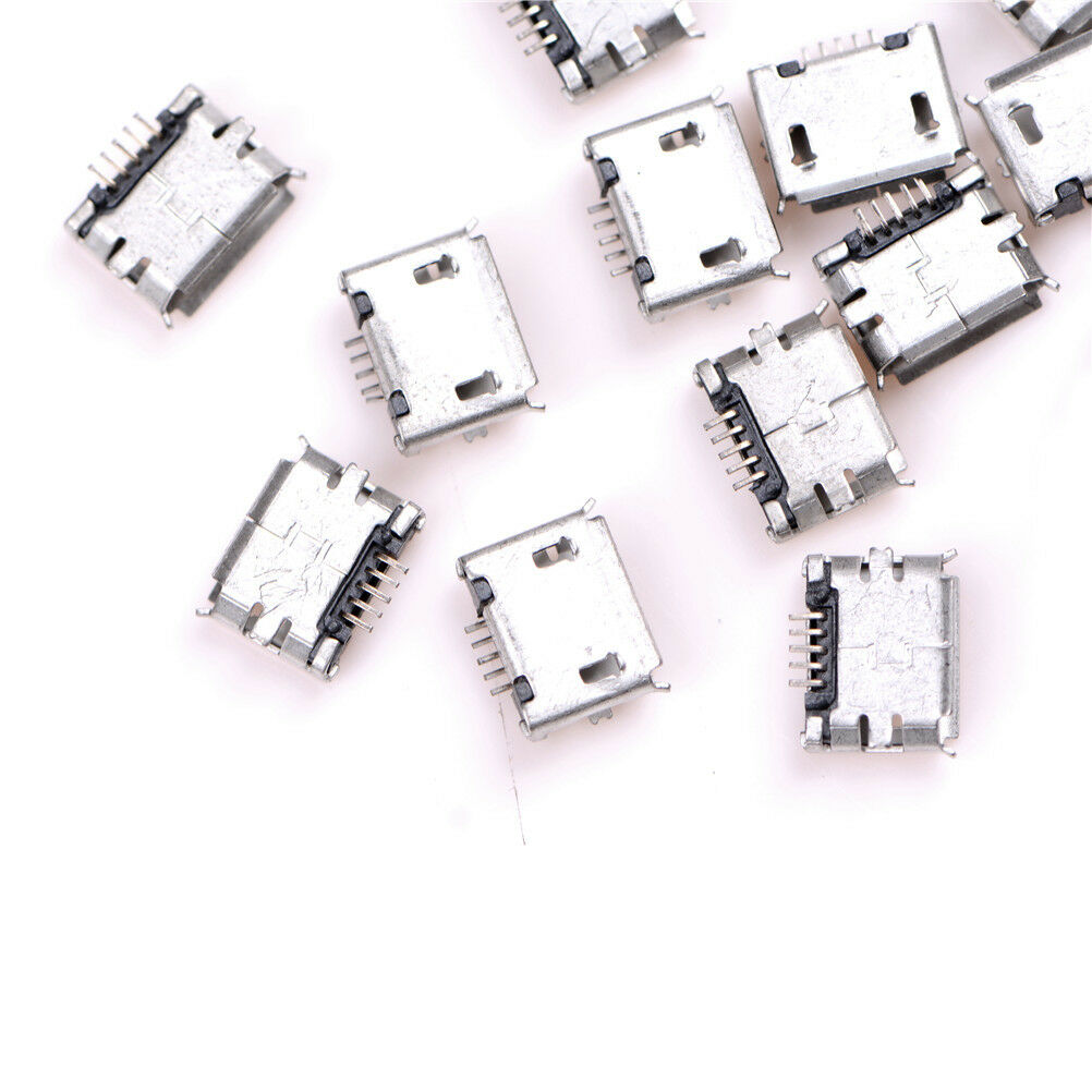 20pcs micro usb typ b buchse buchse 5 pin stecker smd. Black Bedroom Furniture Sets. Home Design Ideas