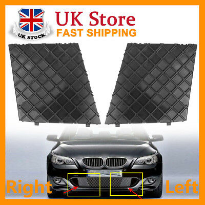 2x Front Left Right Bumper Cover Lower Mesh Grille Grill Trim Fit BMW E60 E61 UK