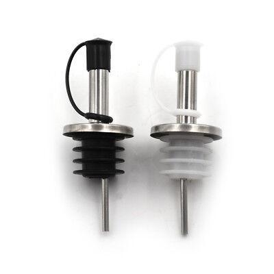 - Stainless Steel Wine Olive Oil Liquor Free Flow Bottle Pourer Dispenser Spout HI