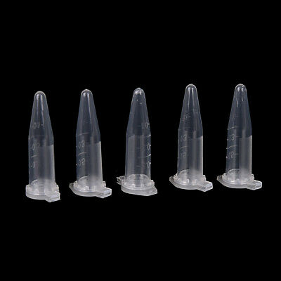 50x0.5ml Lab Clear Micro Plastic Test Tube Centrifuge Vial Snap Cap Container Ig