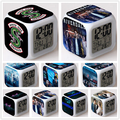 RIVERDALE TV Color LED Night light Digital Alarm Clock Best Gift