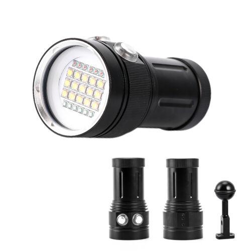 Tauchen Licht Unterwasser Video LED Fotografie Taschenlampe Lampe c UE