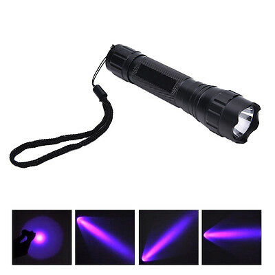 UV WF-501B LED 365NM Ultra Violet Blacklight Flashlight Torch18650 Light Lamp OE