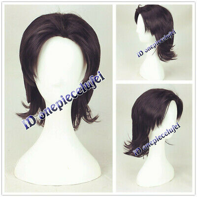 2019 new Aladdin cosplay wig men hair black brown short curly wig + a wig cap](Aladdin Wig)