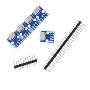 5Pcs Female Micro USB to DIP Adapter Converter 2.54mm PCB Breakout Board cn7