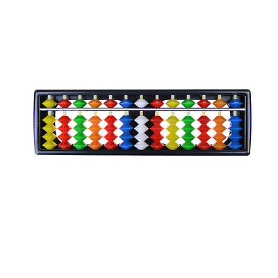Portable Plastic Colorful Beads Abacus Arithmetic Soroban Calculating ToolVE